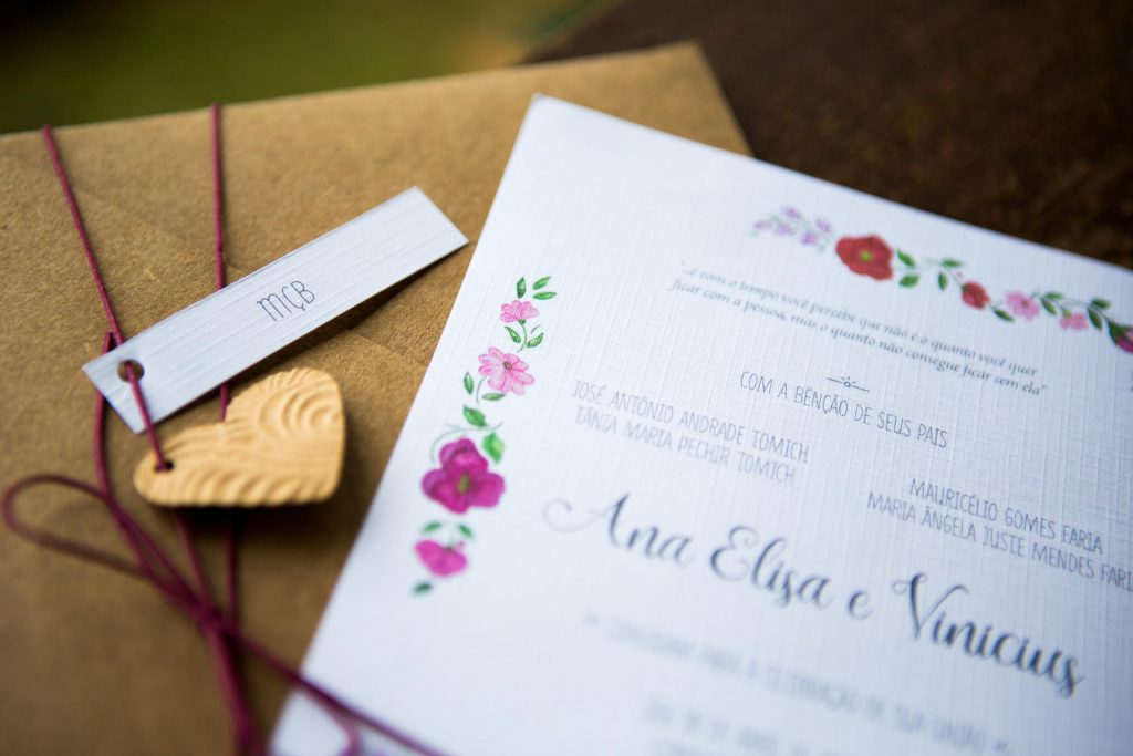 convite de casamento Ana e Vini